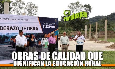 Obras de Calidad que dignifican la Educación Rural