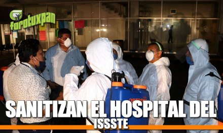 SANITIZAN EL HOSPITAL DEL ISSSTE