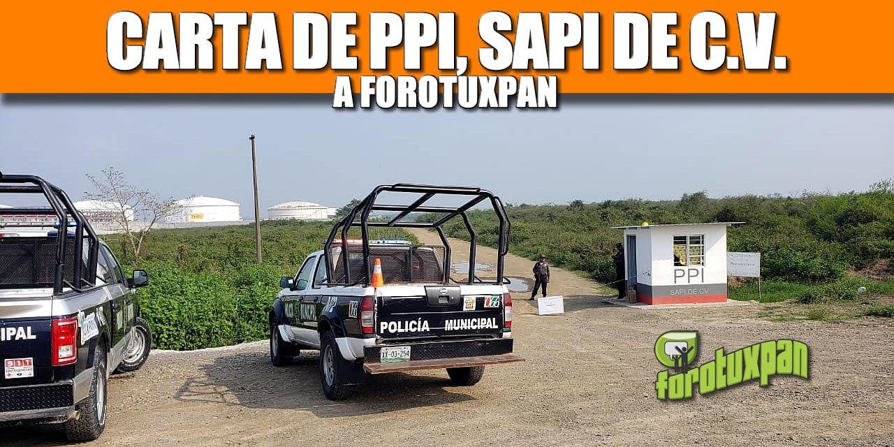 CARTA DE PPI SAPI DE C.V. A FOROTUXPAN