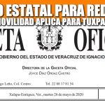 DECRETO ESTATAL PARA REDUCIR LA MOVILIDAD APLICABLE A TUXPAN