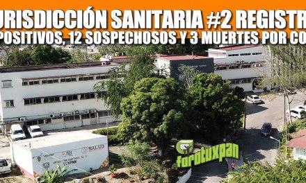 Jurisdicción Sanitaria #2 registra 36 POSITIVOS, 12 SOSPECHOSOS Y 3 MUERTES POR COVID-19