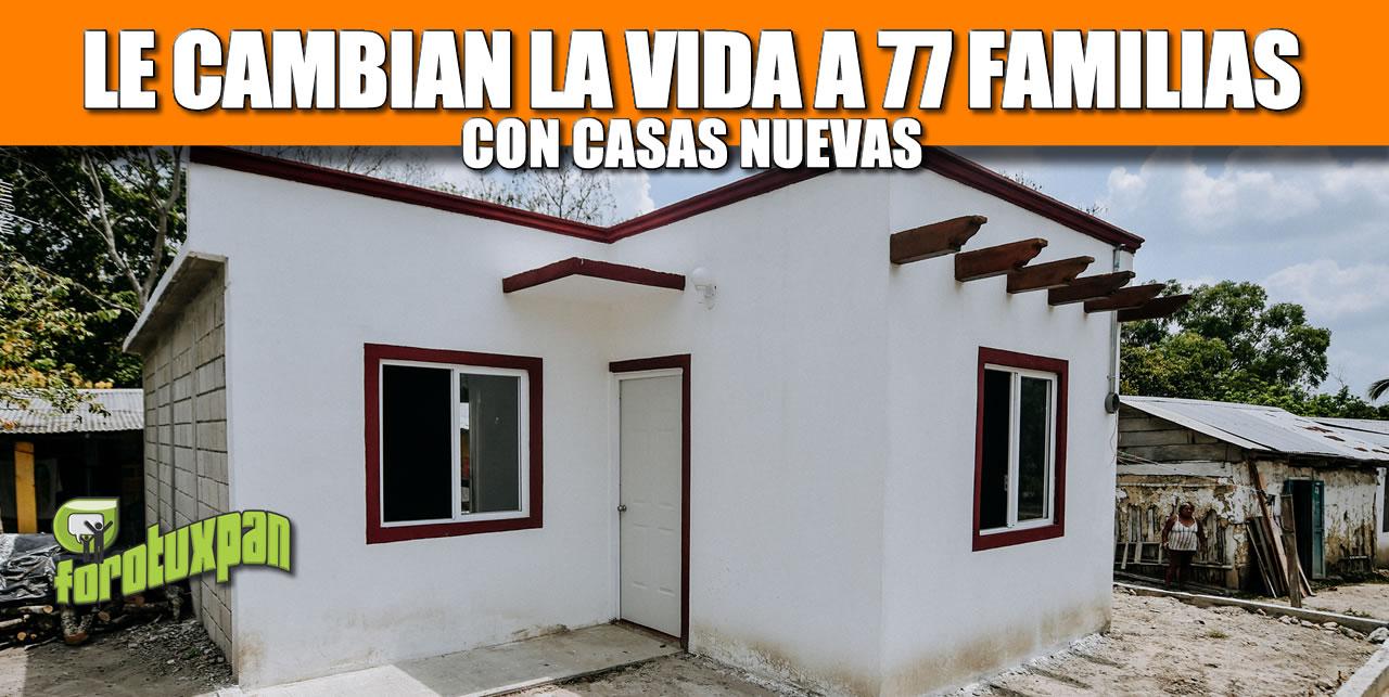 LE CAMBIAN LA VIDA A 77 FAMILIAS CON CASA NUEVA