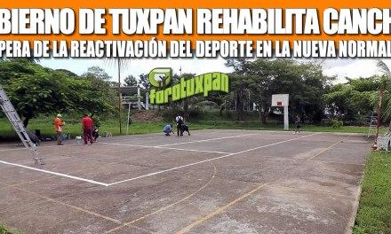 GOBIERNO DE TUXPAN REHABILITA CANCHAS, A LA ESPERA DE LA REACTIVACIÓN DEL DEPORTE EN LA NUEVA NORMALIDAD