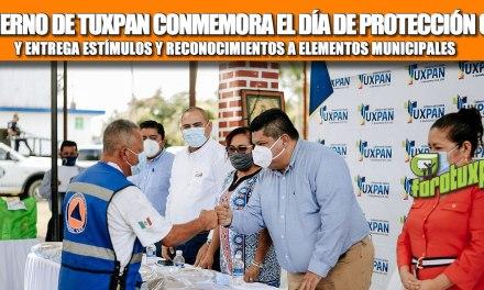 GOBIERNO DE TUXPAN CONMEMORA EL DÍA DE PROTECCIÓN CIVIL Y ENTREGA ESTÍMULOS Y RECONOCIMIENTOS A ELEMENTOS MUNICIPALES