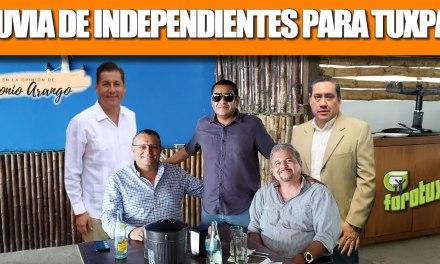 LLUVIA DE INDEPENDIENTES PARA TUXPAN