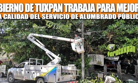 GOBIERNO DE TUXPAN TRABAJA PARA MEJORAR LA CALIDAD DEL SERVICIO DE ALUMBRADO PÚBLICO