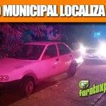 Tránsito Municipal Localiza al Tsuru robado
