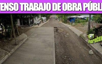 INTENSO TRABAJO DE OBRA PÚBLICA