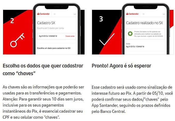 Obter Chave PIX Santander