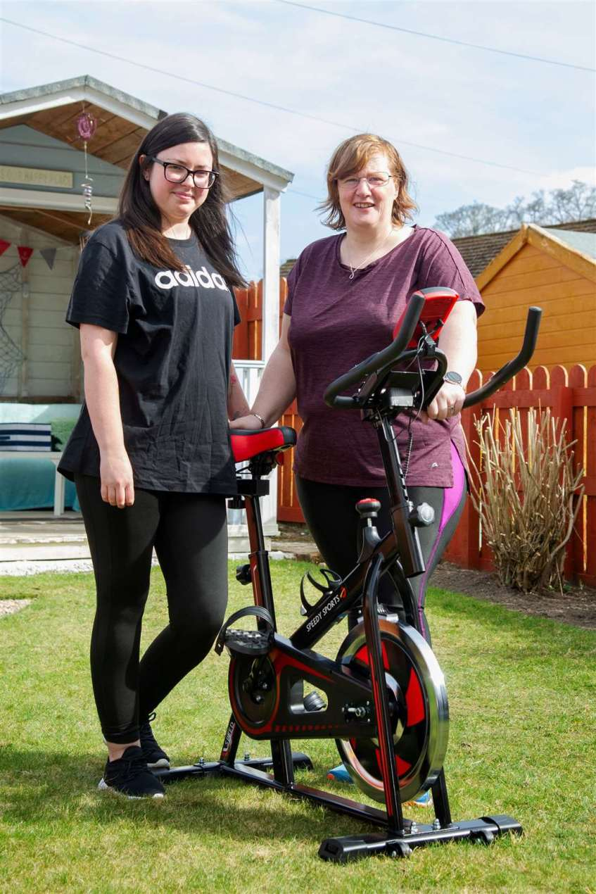 Hannah Lane and June Campbell are doing a sponsored cycle to help Hannah's dad buy a sensory van for children.