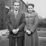 The rear of Joan Taylors family home, Harold 22, Joan 18