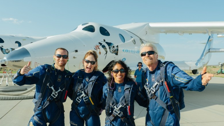 Virgin Galactic shares dropped, after Richard Branson took a flight to the edge of space