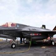 Danmarks nye F-35 kampfly på udstilling til Danish Air Show