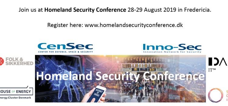 CenSec inviterer til Homeland Security Conference 2019 (28.-29. aug)
