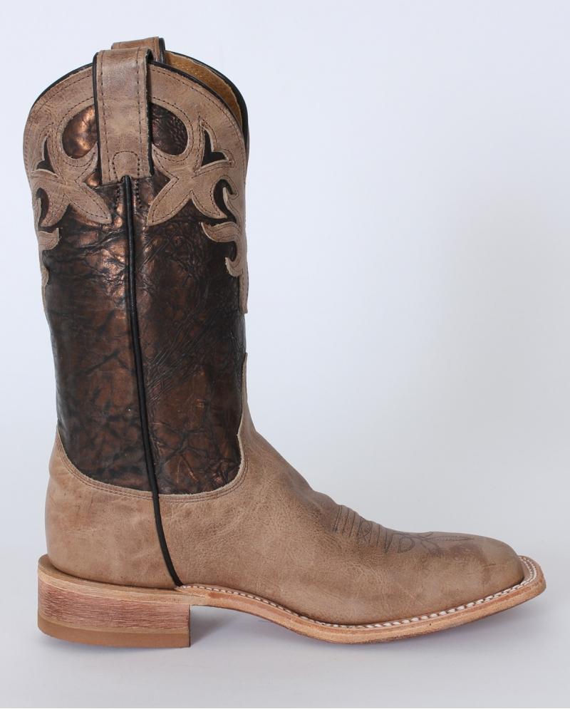 Justin Ladies Antique Beige Cowhide Western Boots Fort