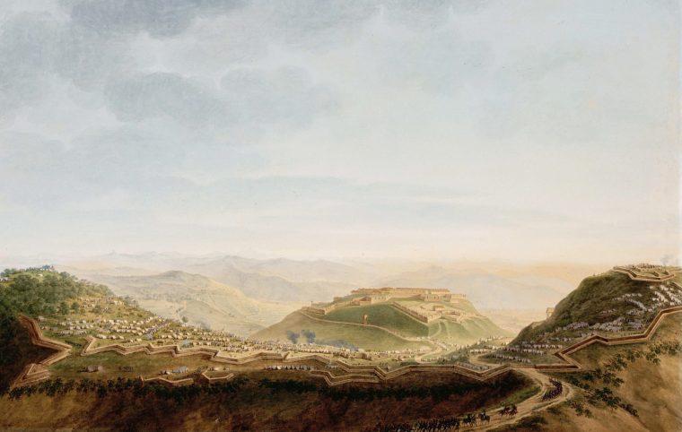 Pietro Giuseppe Bagetti, Vue du fort de Ceva le 16 avril 1796, 1801-1806 (Paris, Louvre