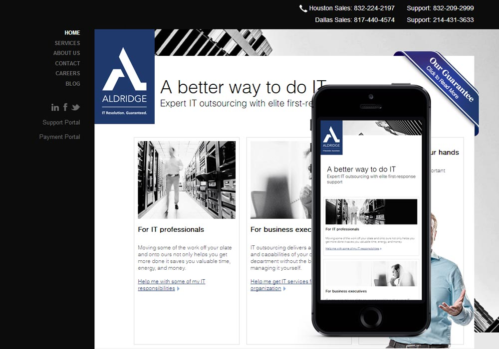Aldridge IT website image