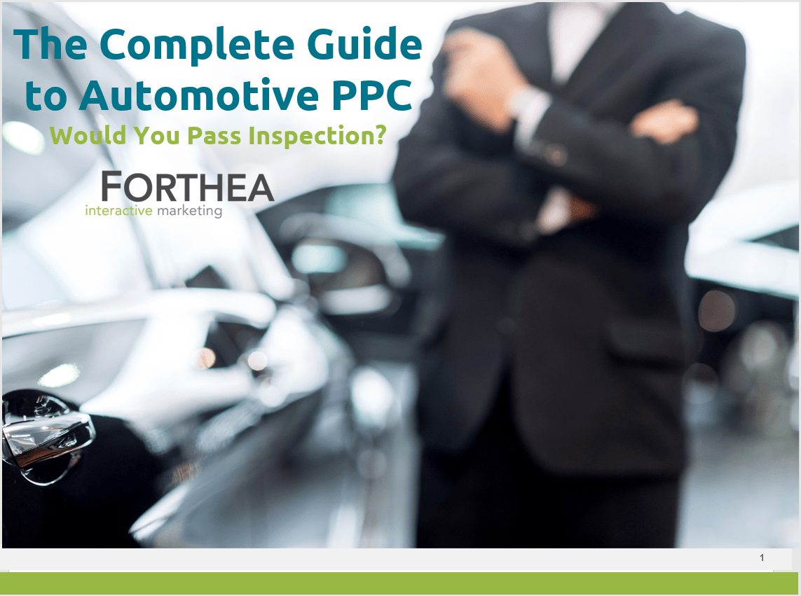 The Complete Guide to Automotive PPC