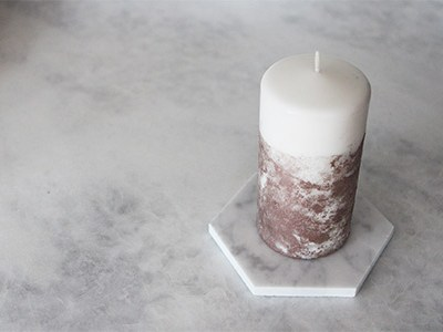 DIY: Rose Gold Leaf Candles | For the Glitz