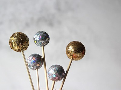 DIY Disco Ball Drink Stirrers | For the Glitz