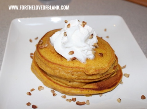 Pumpkin Pancakes are my favorite of all the pumpkin items! Such a simple way to trick your kids into eating veggies.