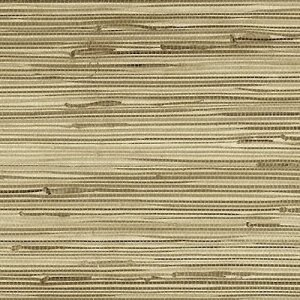 Medium Beige Grasscloth Wallpaper Natural ZN89472 Double Rolls