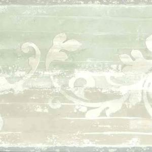 Beige Scroll Vintage Wallpaper Border Green QC3438-B FREE Ship