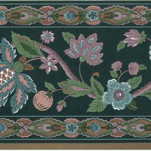 Paisley Floral Vintage Wallpaper Border Green 557501 FREE Ship