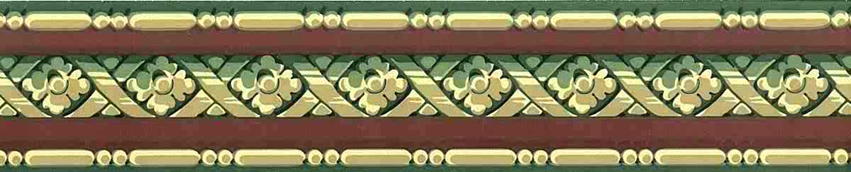 red green vintage wallpaper border, beige, lattice, study, bedroom