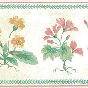 Wildflowers Floral Vintage Wallpaper Border UK Green 76812 FREE Ship