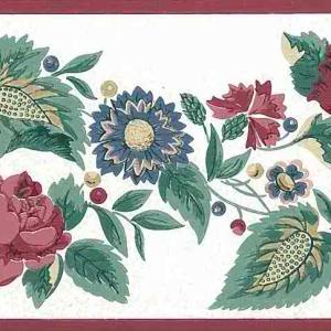 Red Sunflowers Floral Vintage Border KI18522 FREE Ship
