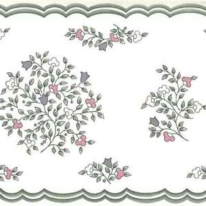 Stencil Floral Vintage Wallpaper Border Gray Cottage AR2104 FREE Ship