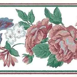 Floral Fruit Vintage Wallpaper Border Kitchen Ivy BL4108B FREE Ship