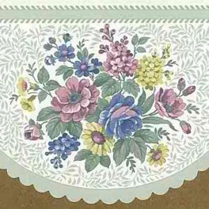 Summer Floral Vintage Wallpaper Border Green Cutout B.0653 Free Ship