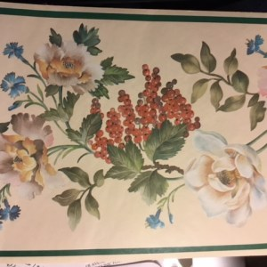Vintage Wallpaper Border Fruit Floral Cream Kitchen BR2274B FREE Ship