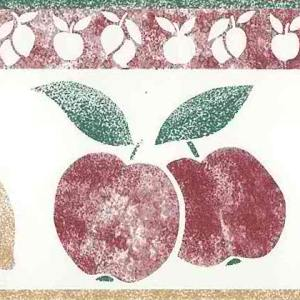 Lemons Apples Vintage Kitchen Border 528-80330 FREE Ship