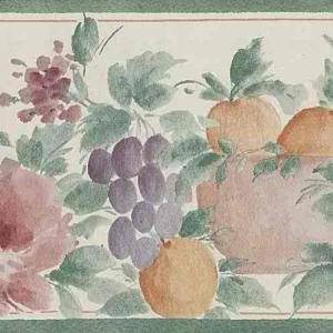 Pastel Fruit Vintage Wallpaper Border Green Kitchen 56642635 FREE Ship