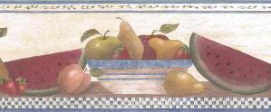 Vintage Wallpaper Fruit Border