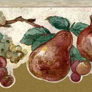 Fruit Cutout Vintage Wallpaper Border Kitchen MY2071B FREE Ship