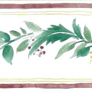 Berries Vintage Wallpaper Border Kitchen Green Red 173207 FREE Ship
