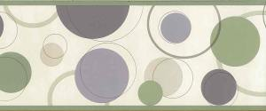 purple green circles wallpaper, border, olive green, kitchen, childrens, modern, contemporary, mid-century