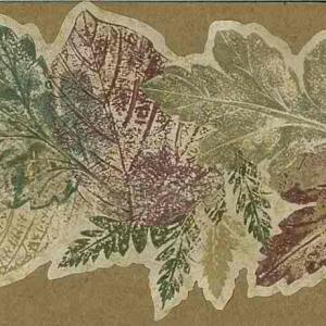 Fall Leaf Wallpaper Border Red Green BG104271 FREE Ship