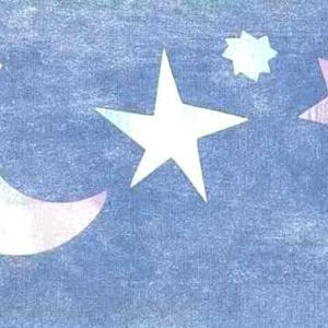 Stars Moons Wallpaper Border Kids Blue Pink 41636310 FREE Ship