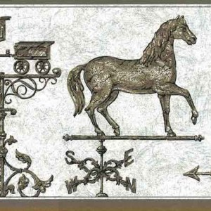 Vintage Weathervane Wallpaper Border Horse Kitchen FK71400 FREE Ship