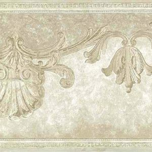 Ivory Shells Vintage Wallpaper Border Nautical Scroll Bathroom 77887 Free Ship