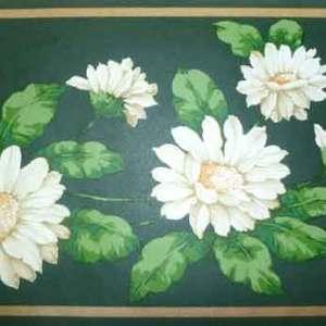 Shasta Daisies Vintage Wallpaper Border Floral M61654B FREE Ship