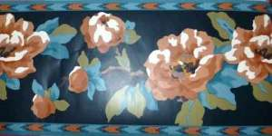 Southwestern floral vintage wallpaper border, Waverly