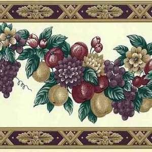 Fruit Wallpaper Border Vintage Kitchen Floral Swag WH2101B FREE Ship