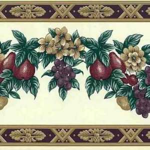 Fruit Wallpaper Border Vintage Kitchen Floral Swag WH2101B FREE Ship