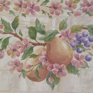 Pink Fruit Vintage Wallpaper Border Floral Kitchen 7502713 FREE Ship